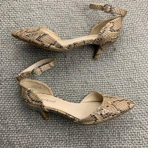 BAMBOO Snakeskin Heels